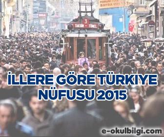 İllere Göre Türkiye Nüfusu 2015 kaçtır?