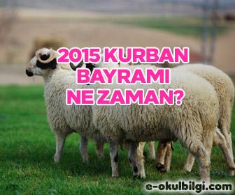 2015 kurban bayramı ne zaman? Kurban bayramı tatili kaç gün?