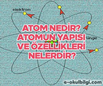 Atom nedir? Atomun yapısı ve özellikleri nelerdir?