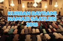 Kurban Bayramı namazı saatleri 2016