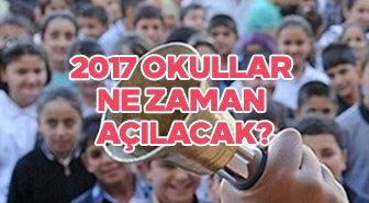 2017 yaz tatili ne zaman sona erecek? Okullar ne zaman açılacak?