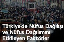 Türkiye'de Nüfus Dağılışı ve Nüfus Dağılımını Etkileyen Faktörler